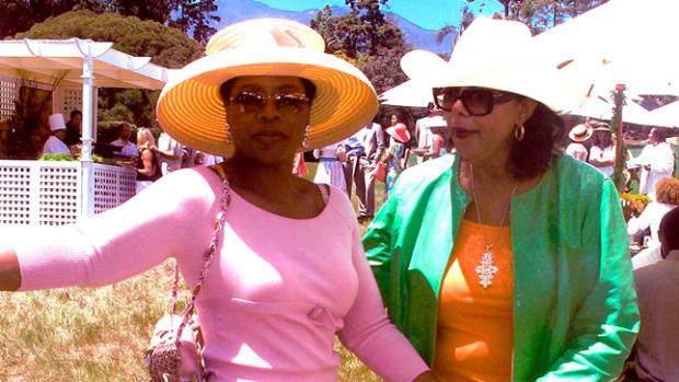 Oprah with Mary Frances Handbag