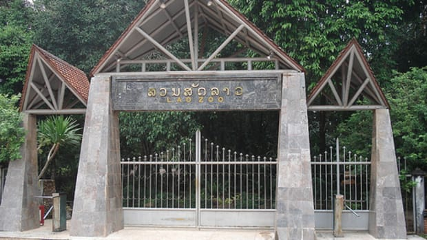 The Gate to Vientiane Zoo