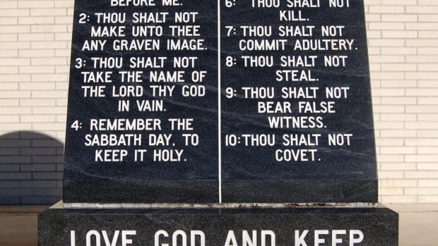 The Ten Commandments rest on the Great Commandment that we are to love God.