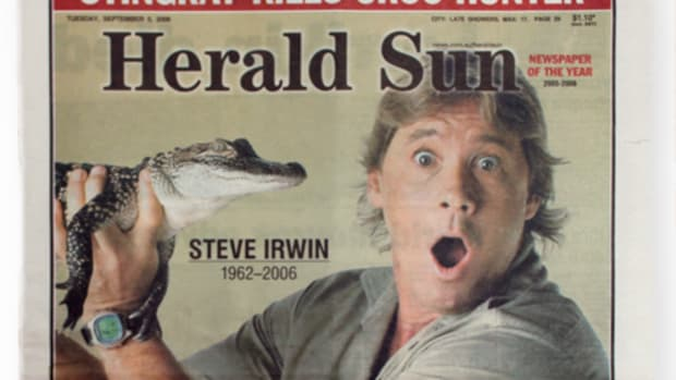 Front Page Herald Sun Newspaper 5th September 2006