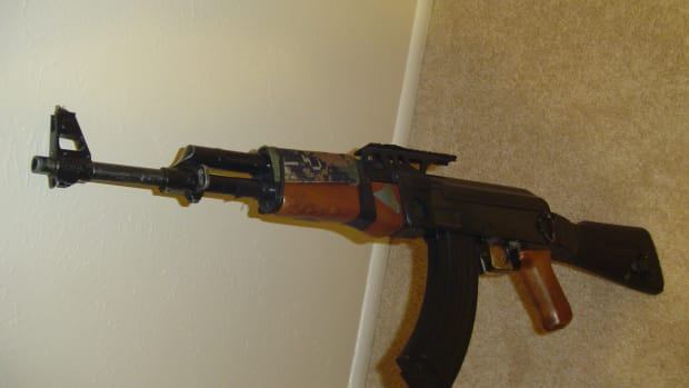 This is my Cyma CM.028 airsoft electric gun after 3 years of play. It is very beat up, but still works great!