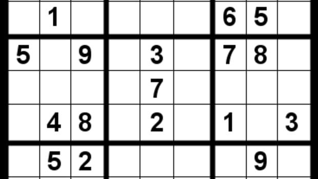 A Sudoku puzzle.