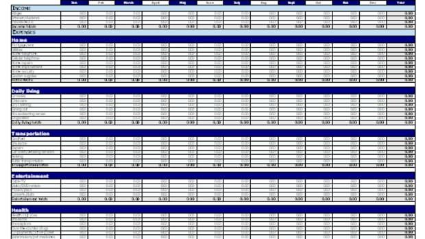 The Microsoft Budget Spreadsheet