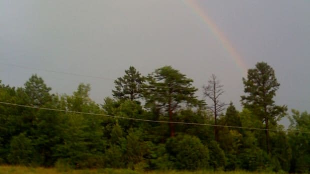A rainbow just inside North Carolina on our way to my brothers house.