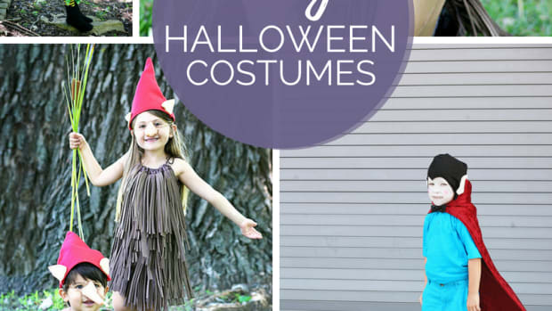 Six easy, no-sew, diy Halloween costumes based on the new children's classic picture book, Halloween Good Night by Rebecca Grabill.