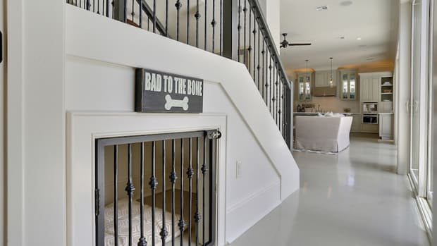dog-house-under-stairs