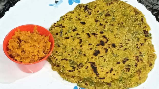 oats-methi-paratha-oats-spinach-paratha-recipe