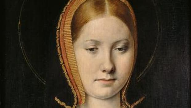 Catherine of Aragon in c. 1503, as the widowed Princess of Wales