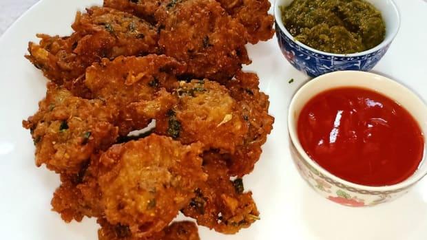 rice-pakora-recipe-leftover-rice-fritters