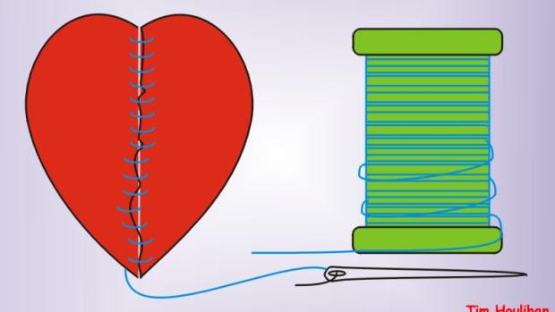 Mending My Broken Heart by Tim Houlihan from Wikimedia: http://commons.wikimedia.org/wiki/File:Mending_my_broken_heart.JPG