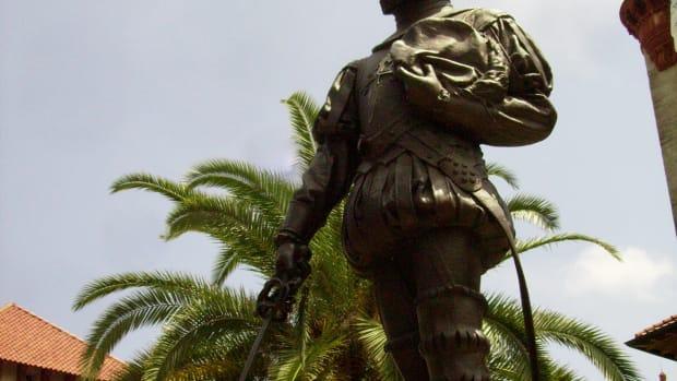Spanish Admiral Pedro Menendez de Aviles; Thanksgiving; St. Augustine, FL