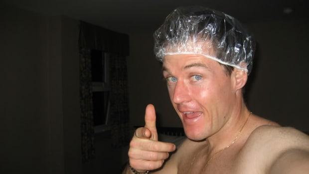 Don't be this guy - we don't want to see you in a showercap!