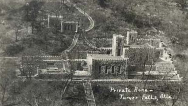 Collings Castle in Turner Falls, Oklahoma.