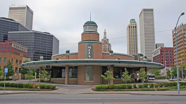 Downtown Tulsa City Bus Terminal - Streamline Moderne Art Deco Style architecture