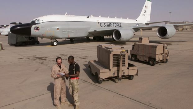 RC-135V/W RIVET JOINT on the ramp during OIF