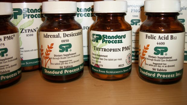 Standard Process Supplements.  Personal photo.