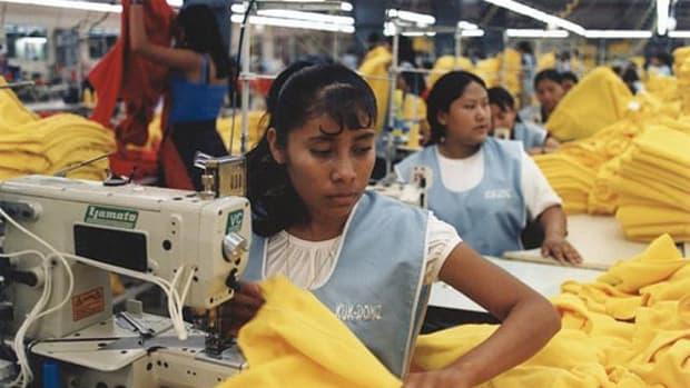 Off-shore child labor is often used in sweatshops.