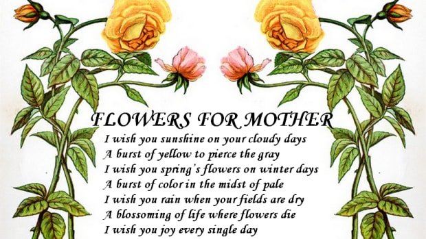 Flowers for Mother Poetry Poster from http://www.zazzle.com/injete*