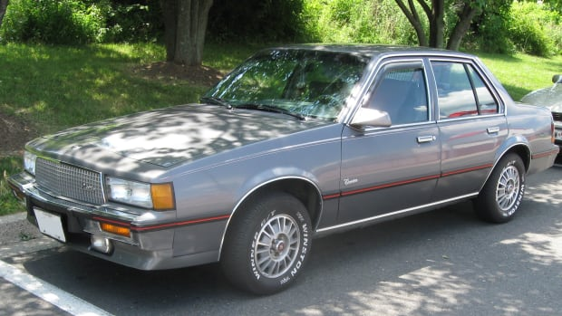Cadillac Cimarron, a pimped out Chevy Cavalier