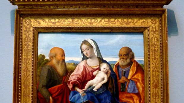 The Madonna and Child with Saints Peter and Paul by Pietro degli Ingannati * Photo by Peggy W