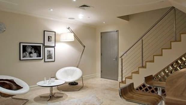"""A crazy """"modern"""" basement."""