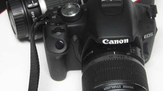 Canon EOS 500D with the two lens in the Kit