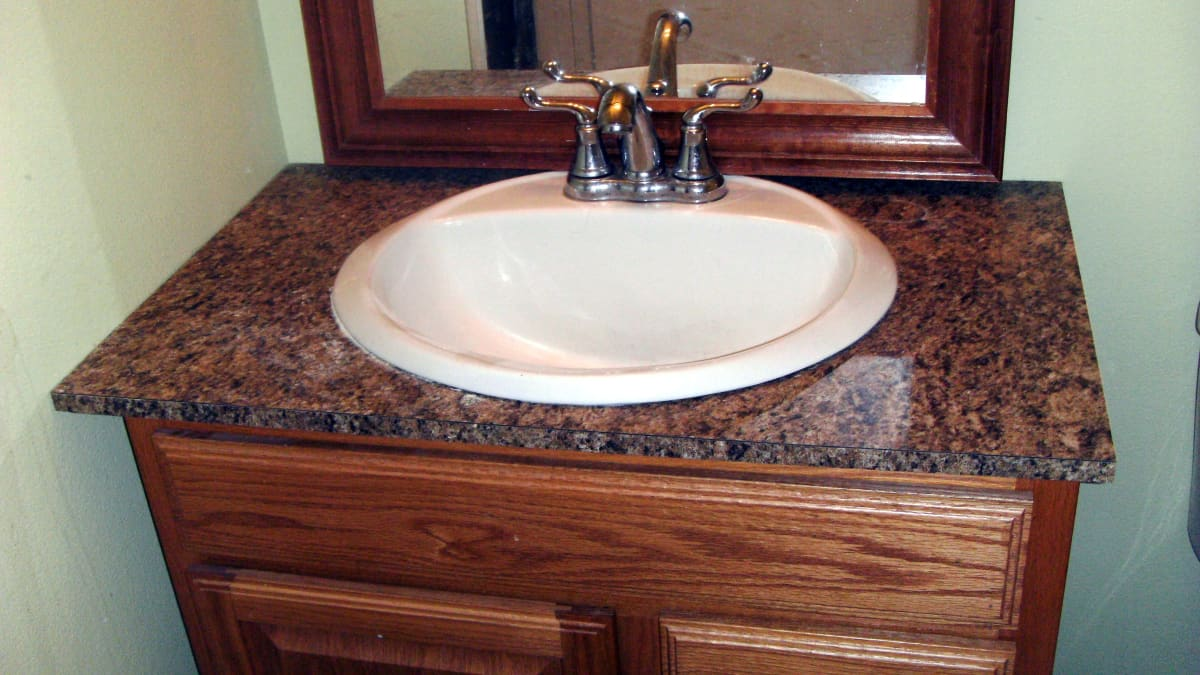 How To Install Laminate Formica For A Bathroom Vanity Countertop Dengarden Home And Garden