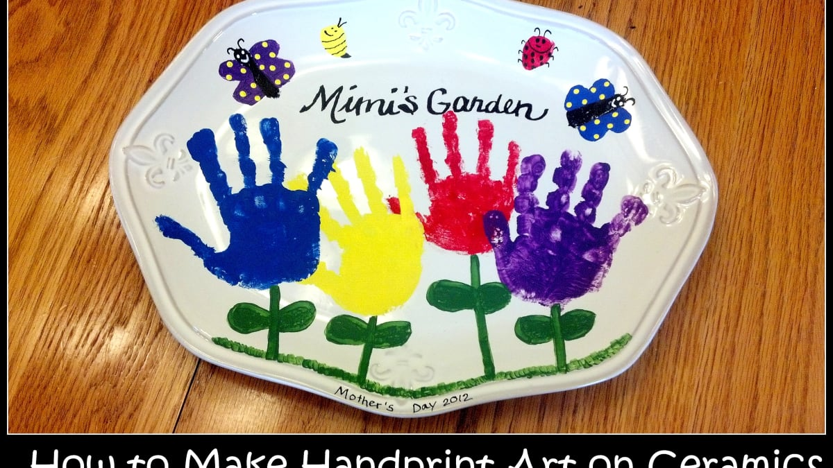 How To Make Handprint Art On Ceramics Feltmagnet Crafts