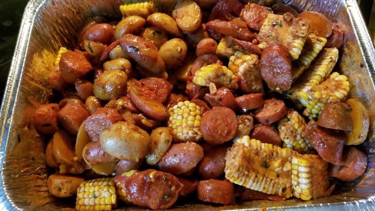 Spicy Shrimp Corn Sausage And Potatoes Recipe Delishably