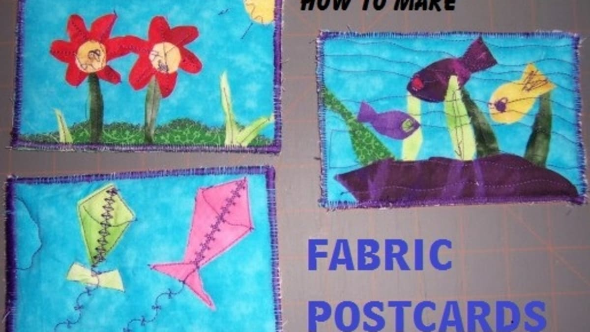 Craft Ideas For Making Postcards How To Make Fabric Postcards Hubpages