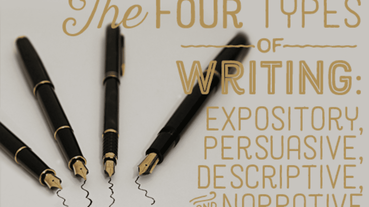 Four Different Types of Writing Styles: Expository, Descriptive,  Persuasive, and Narrative - Owlcation