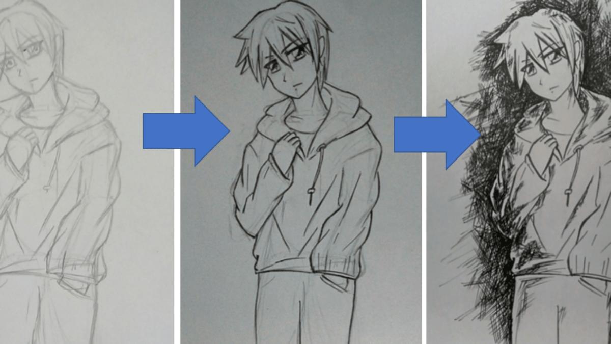 How To Draw An Anime Boy Shounen Feltmagnet