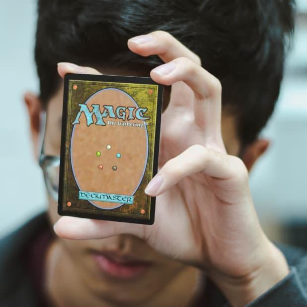 Boy Playing Magic: The Gathering