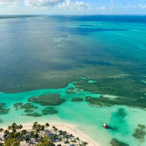 Beach and ocean, CocoCay, Bahamas