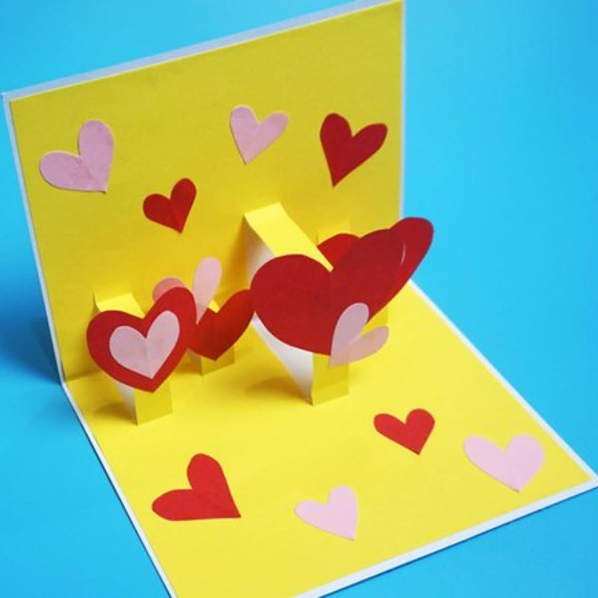 21 DIY Ideas for Making Pop-Up Cards - FeltMagnet Regarding 3d Heart Pop Up Card Template Pdf