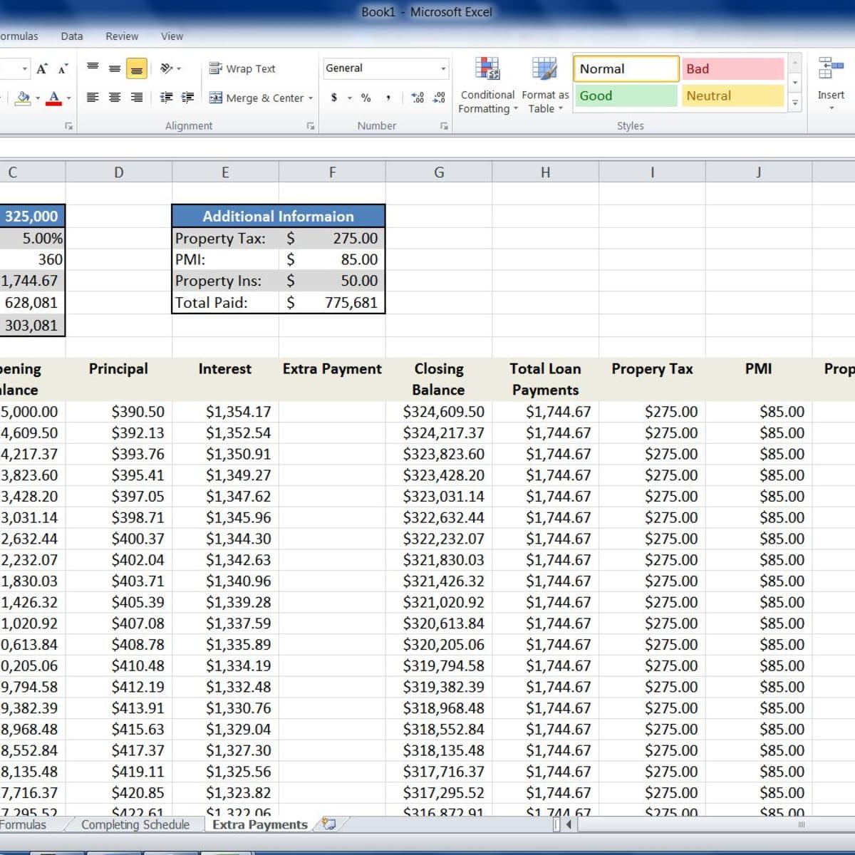 Mortgage Loan Calculator Using Excel   TurboFuture