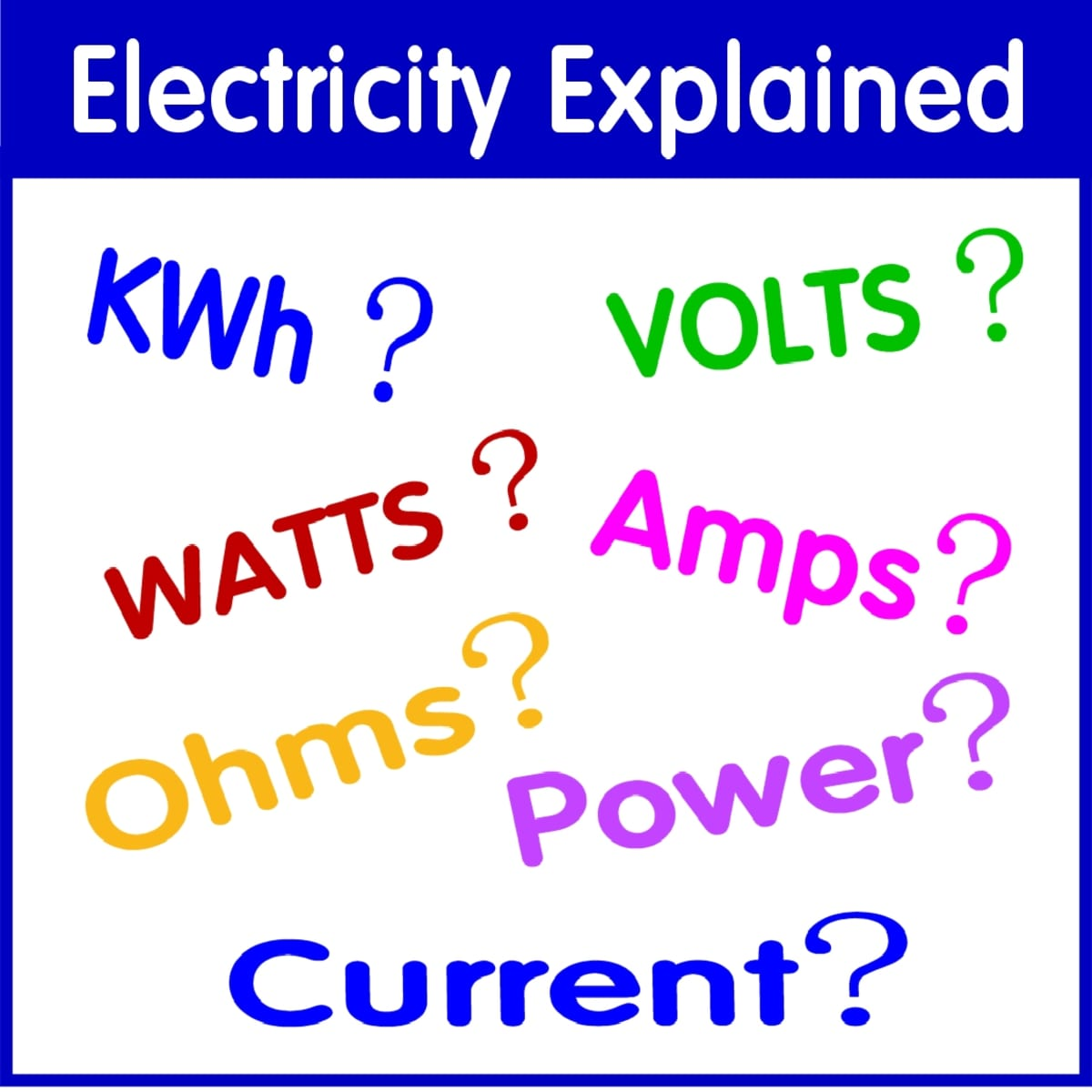 Watts Amps Volts Kilowatt Hours Kwh