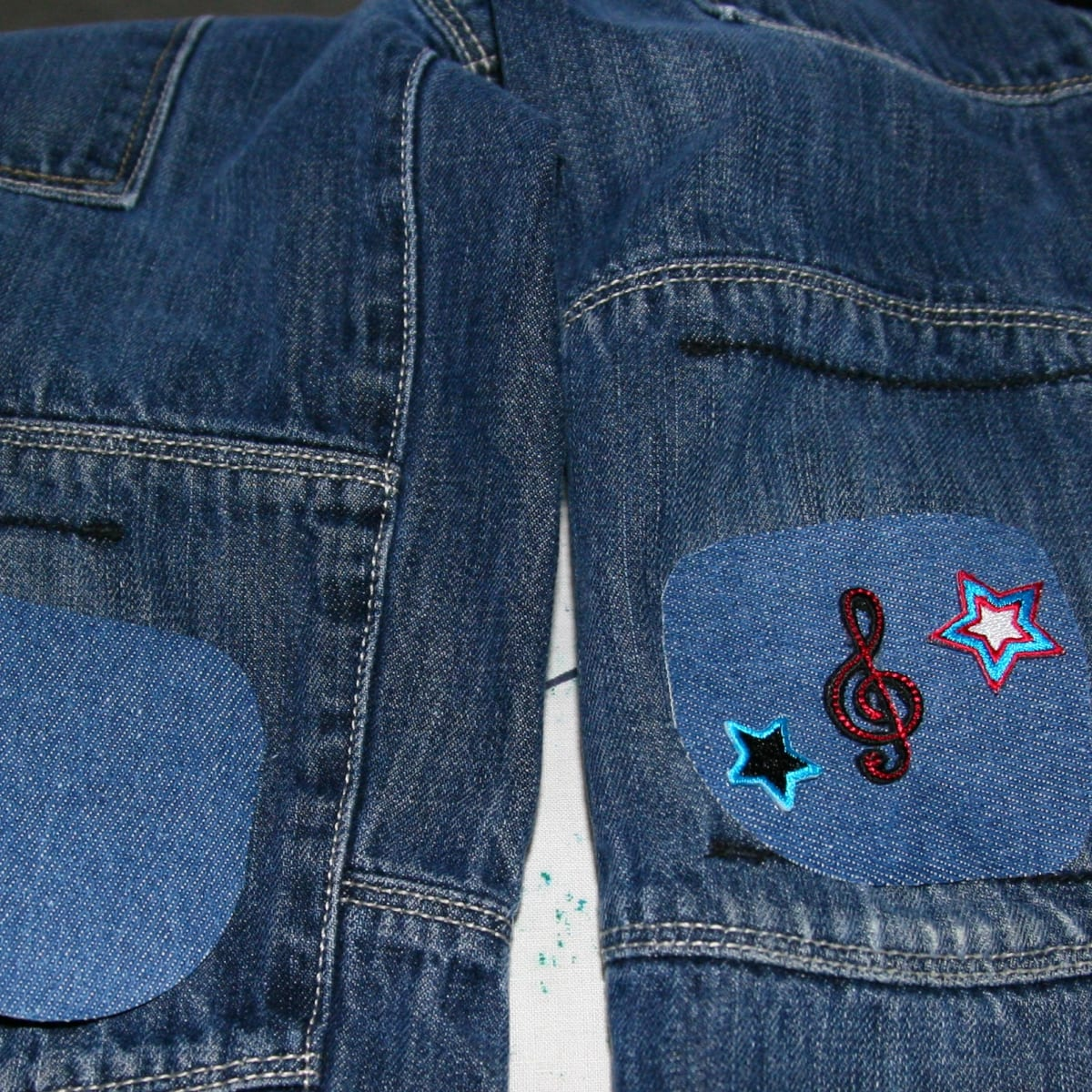 How To Patch Jeans With Iron On Patches Feltmagnet Crafts