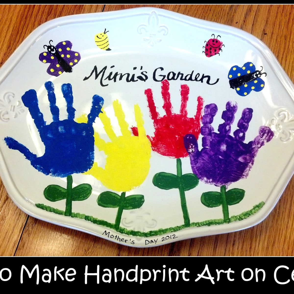 How To Make Handprint Art On Ceramics Feltmagnet Crafts
