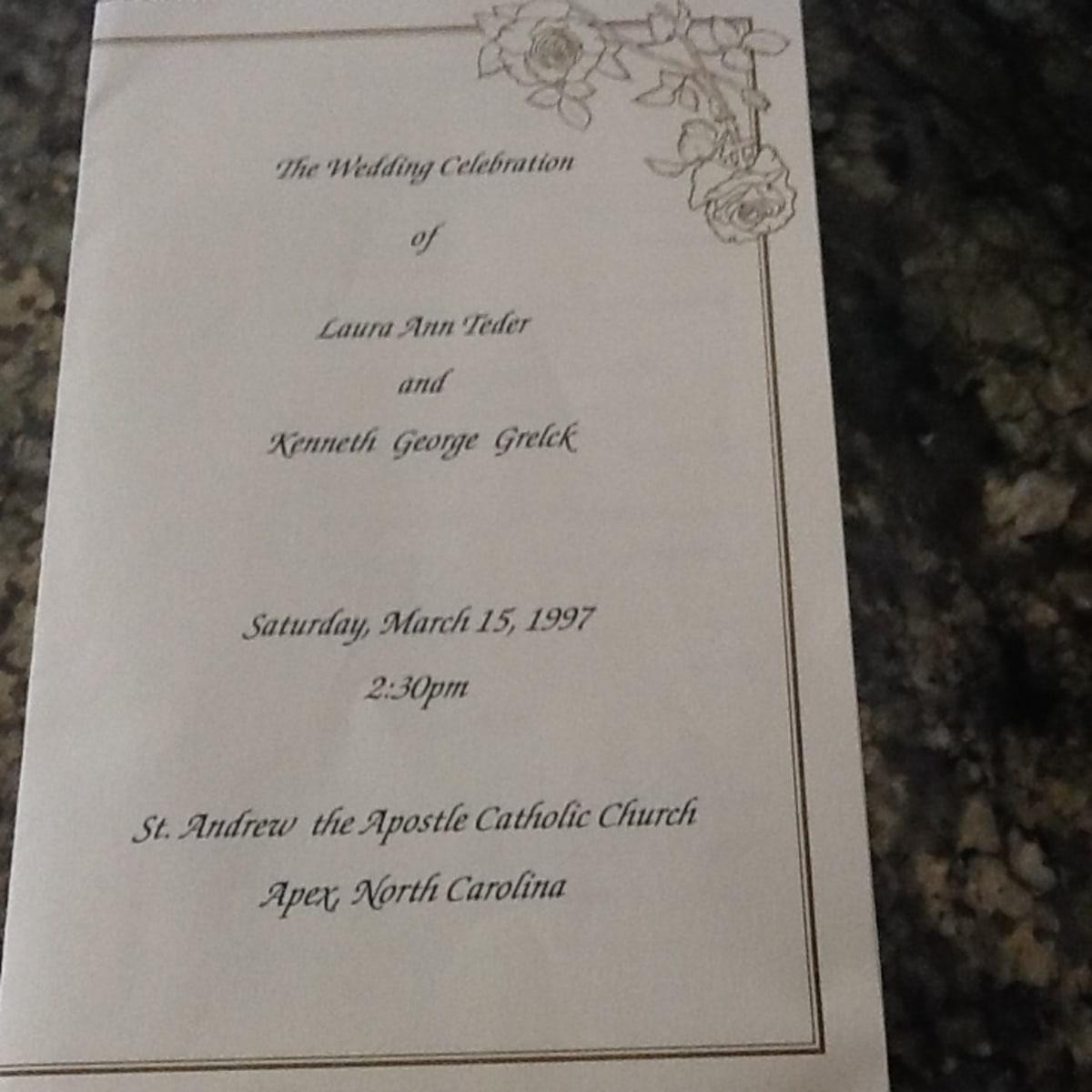 Sample Catholic Wedding Program   Holidappy