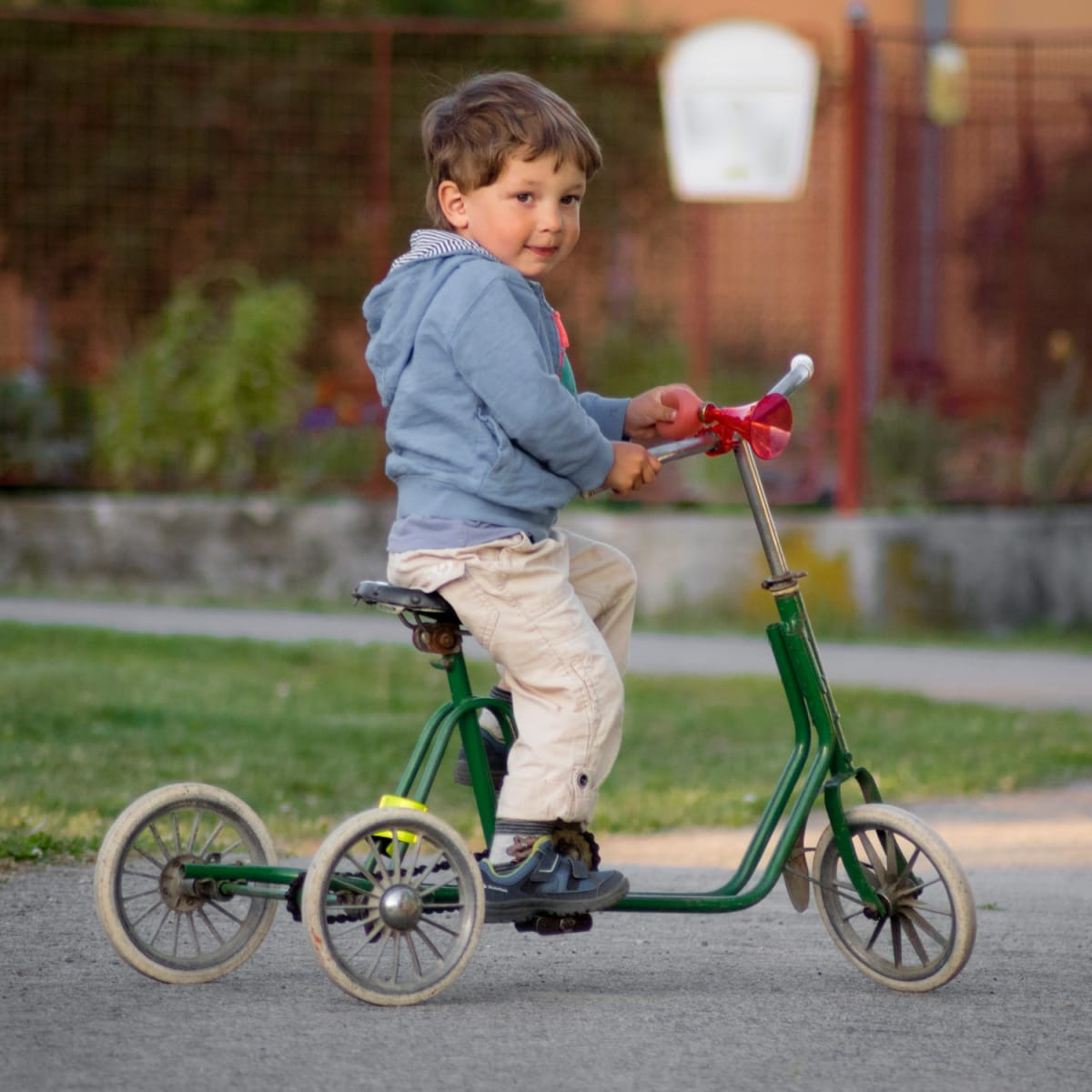 Vintage Early Tricycle or Scooter for a Toddler or Small Child.