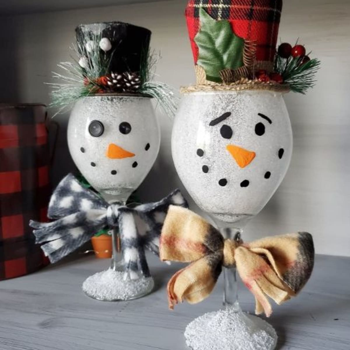 Snowman Clothespin Magnets