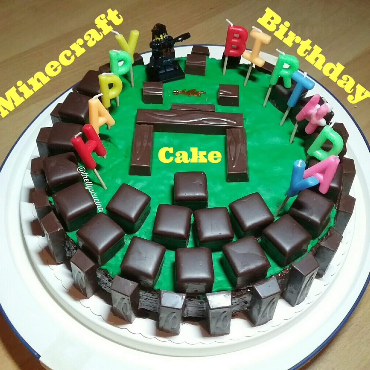 How To Make A Minecraft Birthday Cake Delishably Food And Drink