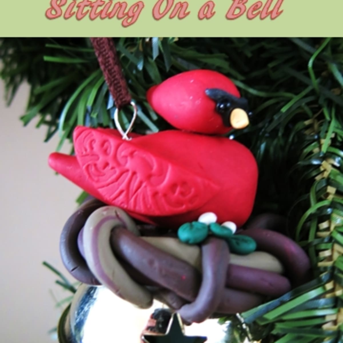 Diy Christmas Ornament Polymer Clay Bird Decoration With Bell Holidappy Celebrations