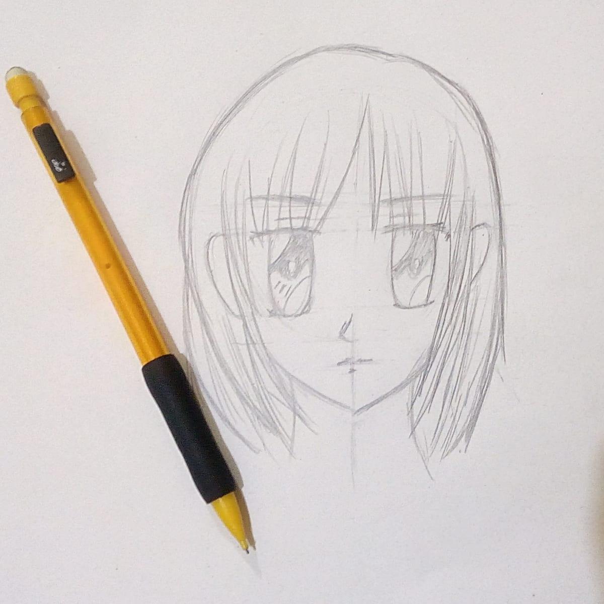 How To Draw An Anime Girl Face Shojo Feltmagnet
