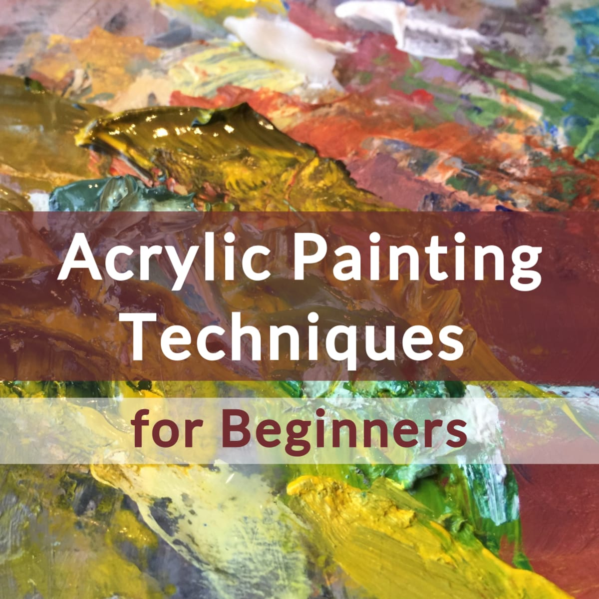 6 Basic Acrylic Painting Techniques For Beginners Feltmagnet Crafts