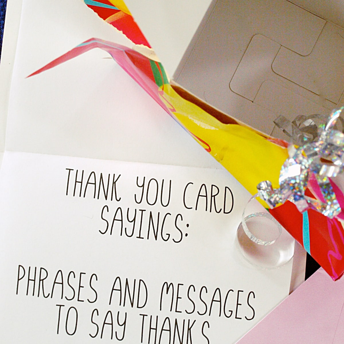 Thank You Card Sayings Phrases And