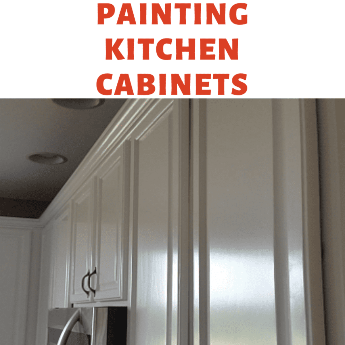 Spray Painting Kitchen Cabinets, How To Paint Kitchen Cabinets White With A Sprayer