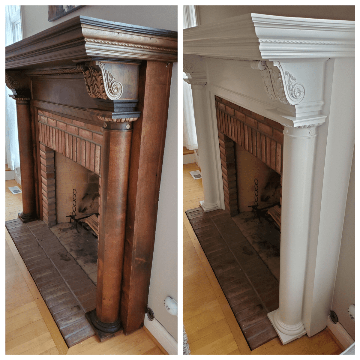 Tips For Painting A Fireplace Mantel Dengarden Home And Garden