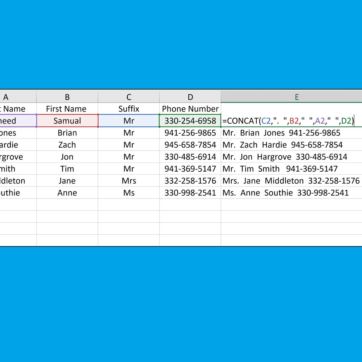How to Concatenate Data in Microsoft Excel 20   TurboFuture